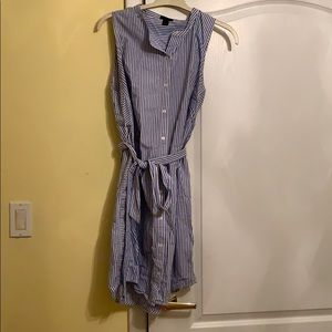 Jcrew striped shirt dress
